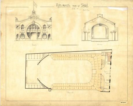Ante proyecto para un salón del Teatro Faenza