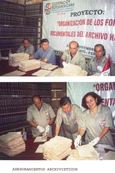Organización de los fondos documentales del Archivo Histórico