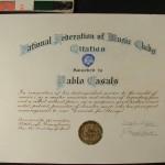 Restauración de la colección de manuscritos y obra gráfica sobre Pablo Casals