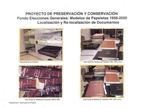 Fondo Documental: Elecciones Generales Papeletas Modelos 1956-2000