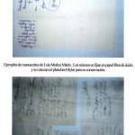 Ejemplos de manuscritos de Luis Muñoz Marín