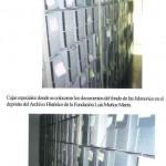 Cajas especiales en el depósito del archivo
