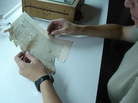 Taller conservación y restauración Escuela Universitaria de Bibliotecología y Ciencias Afines