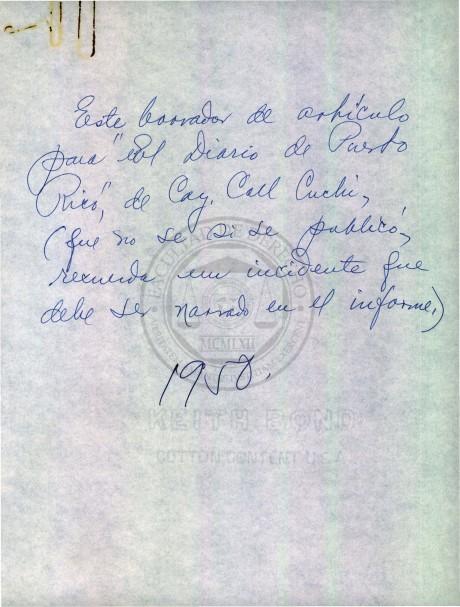 Fondo Documental Dr. Antonio Fernós Isern