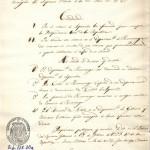 Copia de decreto supremo dado por Simón Bolívar, Presidente de la República de Colombia y encargado del Supremo Mando de la del Perú, sobre cambio de denominación del Departamento de Huamanga por el de Ayacucho, en honor a la Victoria de Ayacucho.
