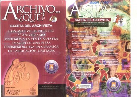 """Gaceta del Archivista """"archivo…¿qué?"""