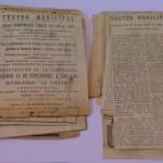 Recortes de prensa conservados y desmontados de su soporte original
