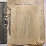 Estado inicial de archivadores con variada documentación administrativa