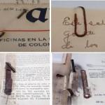 Algunos ejemplos del deterioro producido en el papel por elementos metálicos