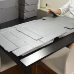 Montagem de caixas de acondicionamento acid-free
