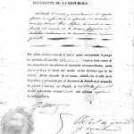 Documento digitalizado de 1837. Rep. de Nueva Granada