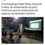 Tweet @culturaCCO sobre charla impartida en el Simposio Internacional de Historia Marítima