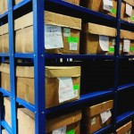 Cajas en depósito de documentos donde se verificaron series documentales.