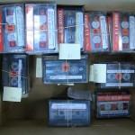 Casetes de la colección de conferencias de prensa objeto de este proyecto.
