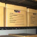 Cuatro cajas que componen la colección completa de las conferencias de prensa.