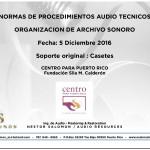 Presentación del Informe Audio Técnico