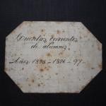Portada de libro de Cuentas Corrientes de Alumnos 1895-1897.