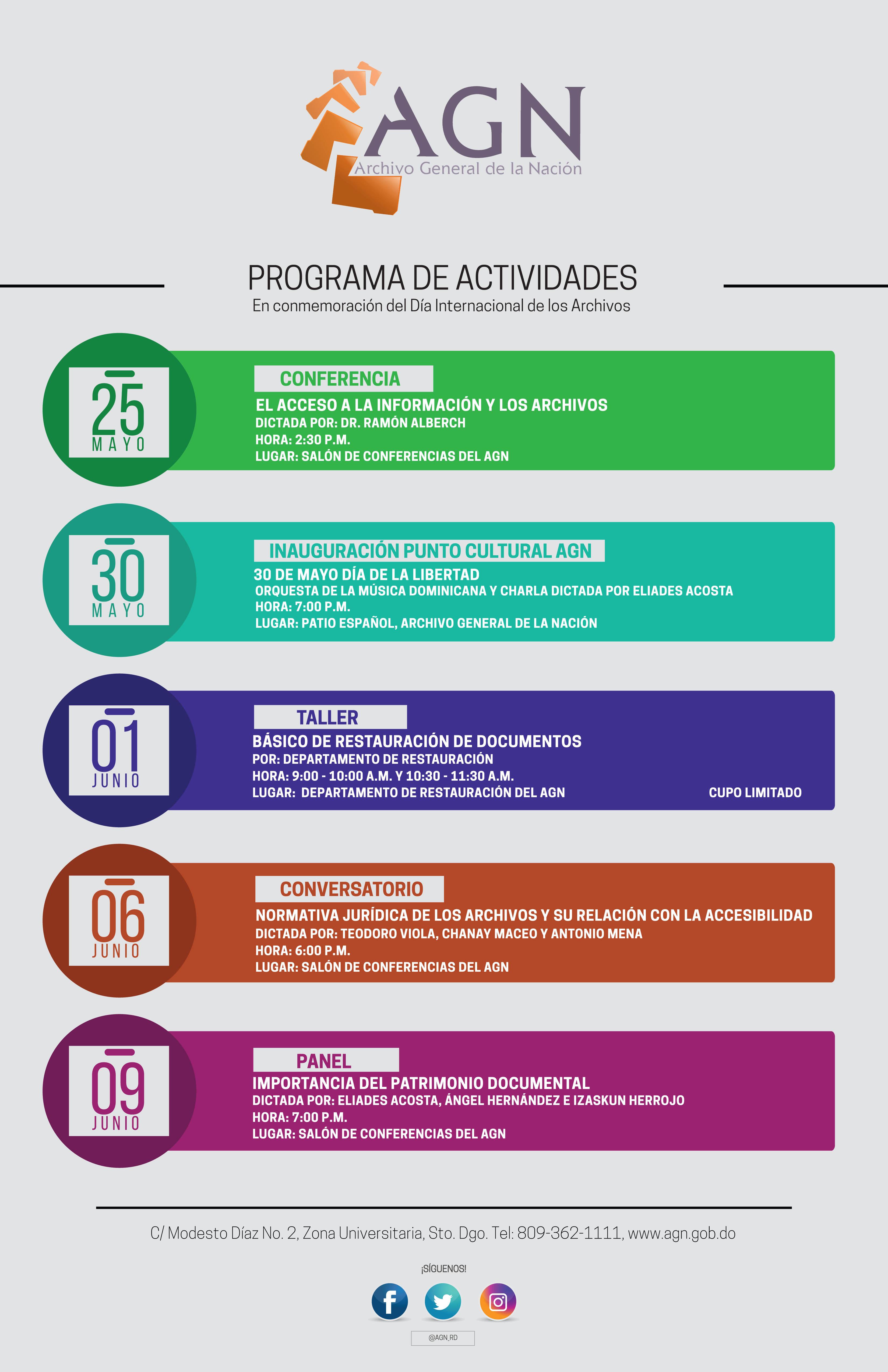 Calendario de actividades