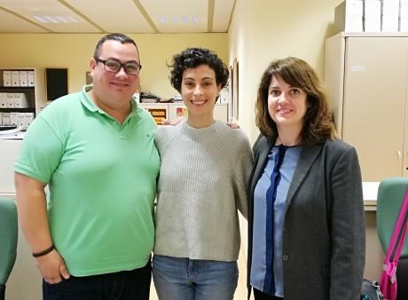 En la foto Miguel Ángel Bermejo Alonso, Inês Pereira y Cristina Díaz Martínez del Servicio de Cooperación Internacional