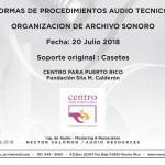 Normas de Procedimientos Audio Técnicos