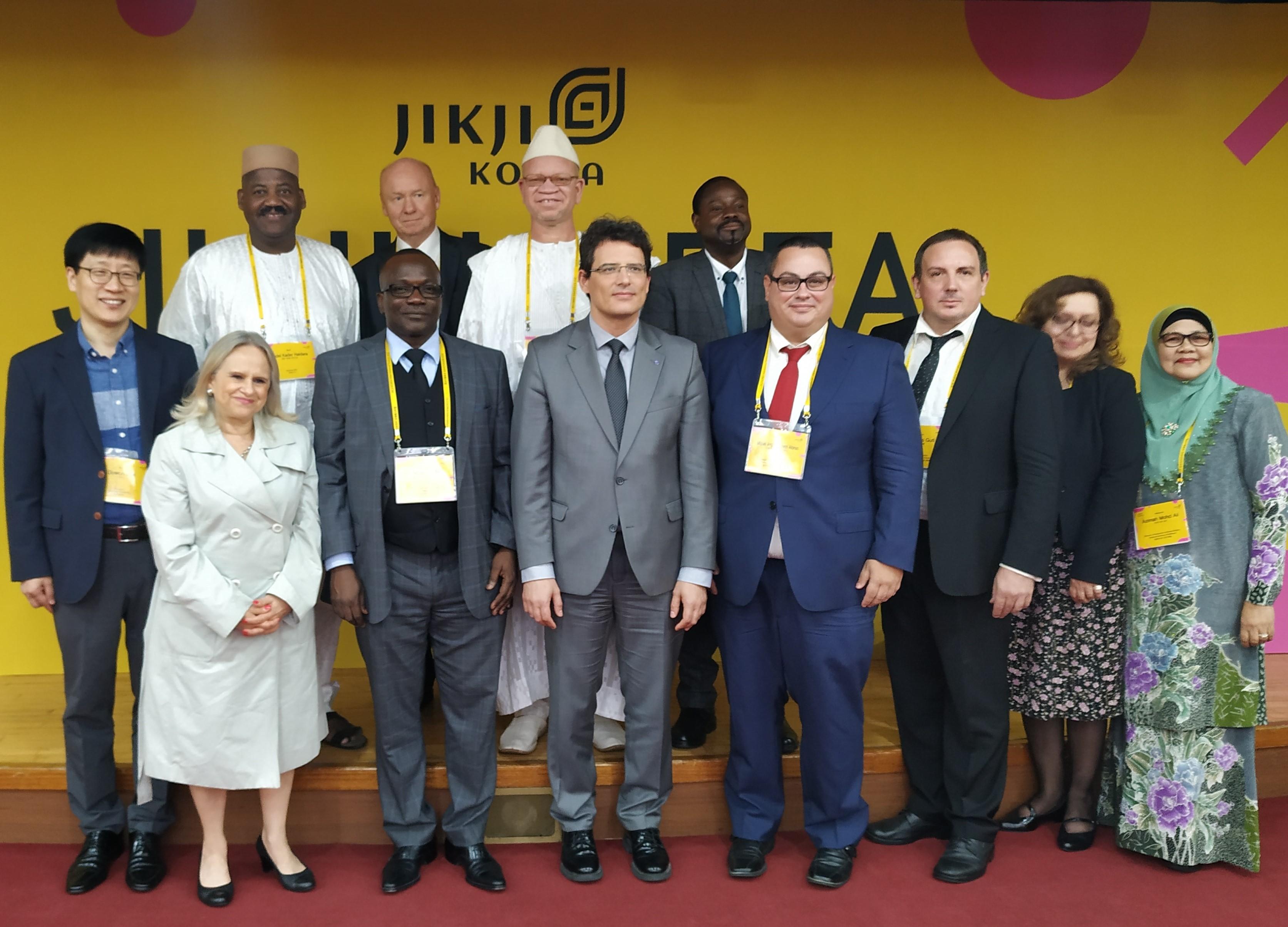 Representantes de los ganadores del Premio Jikji desde 2005