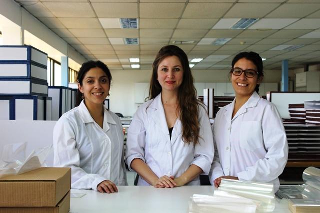 De izq. a derecha. Carolina González Bravo, Natalia Ríos Martínez y Katerina Arias Ferrada.