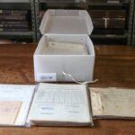 Documentos avulsos acondicionados depois do tratamento de preservação