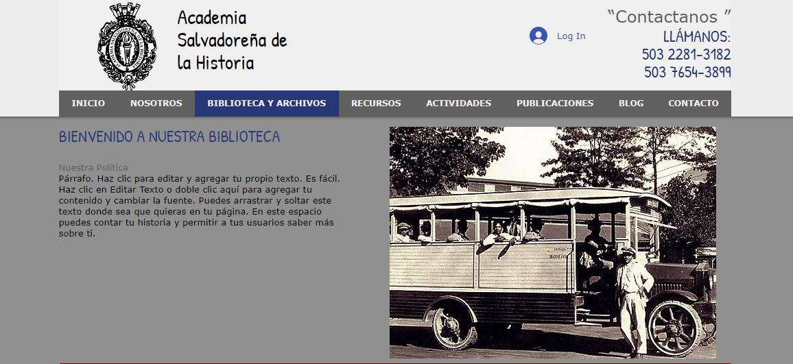 Producción de 100 registros orales para el archivo oral de procesos y movimientos sociales de la Academia Salvadoreña de la Historia sobre temáticas de migración y de la Guerra Civil de los años ochenta