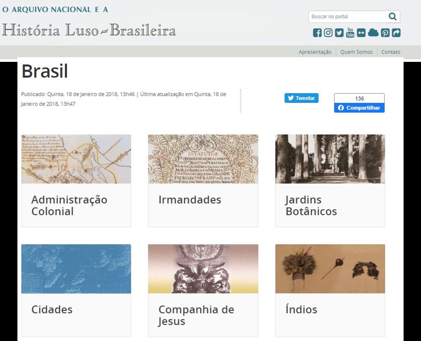 A história luso-brasileira nos documentos do Arquivo Nacional